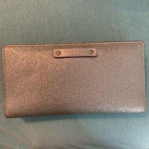 Like New Kate Spade Silver Glitter Wallet